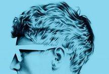Blue - Bleu / Blue inspiration #illustration #photographie #print #graphisme  #graphicdesign #painting