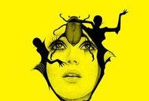 Yellow - Jaune / Yellow inspiration #illustration #photographie #print #graphisme  #graphicdesign #painting