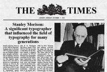 Font : TIMES NEW ROMAN / Typographie Times New roman. Stanley Morison 1931 pour The Times et la fonderie Monotype.