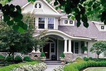 house exterior pictures / I am collecting outdoor pictures of homes for my one day dream home. These home exteriors have a craftsman, single shingle, garden, and east coast feel.  / by Our house now a home