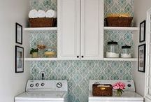 laundry room ideas / The laundry room needs to be functional, organized, clutter free, and a pretty space does not hurt. I like these ideas for a laundry room because they are a dream space but still work for a family home.  / by Our house now a home