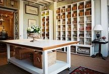 Craft room inspiration / I one day will have a dream craft room like these! I need organization, work space, function, good lighting, storage and function to every inch of the craft room.  / by Our house now a home