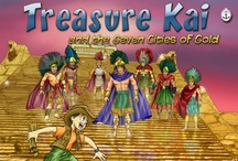 Treasure Kai and the Seven Cities of Gold / Produced with Treasure Bound Books, Treasure Kai and the Seven Cities of Gold follows the adventures of Kai as he goes back in time to race Francisco Coronado to find the legendary Seven Cities of Gold.  Treasure Kai is a twist on choose-your-adventure where every reading of the story is different. It combines interactive storytelling and many games with an original score. Ages 4+. Available for #iOS