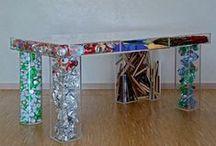 Tavoli / Riuso creativo di materiale di riciclo per creare tavoli, scrivanie e tavolini per la casa e l'ufficio   upcycle   recycle   upcycled   recycled