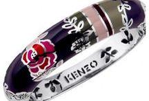 """Bijoux KENZO """"Fédora"""" / Bijoux KENZO """"Fédora"""" en argent rhodié et laque multicolore. http://www.bijouterie-influences.com/search.php?search_query=fedora"""