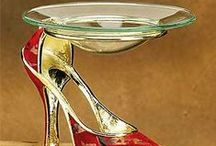 High Heel Props / Every high heel design imaginable, from chairs, telephones, lamps and decor #womenhighheeldesign