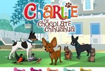 """Charlie the Chocolate Chihuahua / Charlie the Chocolate Chihuahua is engaging, fun, and thoughtful family entertainment that will inspire creativity in your kids. Delight in the animated and interactive storybook, """"A New Home for Charlie,"""" then immerse yourself in Charlie's Art Center, Puzzles and Games. For #iOS. #Android, #Kindle, #Nook & #Tabeo - Ages 4+ http://fatredcouch.com/Charlie_the_Chocolate_Chihuahua"""