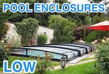 Pool enclosures - low / High quality low pool enclosures by Alukov. Retractable swimming pool enclosures which do not break the whole impression of your garden.
