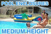 Pool enclosures - middle hight / Middle high swimming pool enclosures by IPC Team. Quality pool cover for your garden.