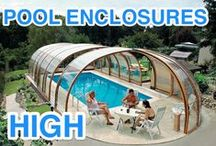 Pool enclosures - high / Retractable swimming pool enclosures from high covers family offer larger inner space.