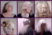 Transition Inspiration for Grey and White Hair / Thinking about embracing your natural grey? The transition process can be challenging, but as they say, 'getting there is half the fun'.