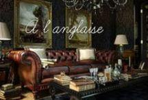 Chez Sherlock / Le style anglais allie la noblesse des matériaux (bois, cuir, velours) à un goût du confort et un sens du détail dans le style d'Agatha Christie ou de Sherlock Holmes.