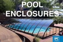 Recent POOL ENCLOSURES installs / Recently installed POOL ENCLOSURES - retractable pool enclosures allow you to fully remove the cover by sliding segments into each other. When your pool is not in use, just slide the cover over your pool.