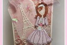 Prima mixed media dolls / Julie Nuttings Prima Dolls are the sweetest things since cotton candy, I love all the masterpieces created by talented crafters with these stamps.