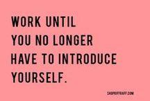 Reputation - Reputaţia / Work until you no longer have to introduce yourself. Munceşte până când nu va mai fi nevoie să te prezinţi. http://www.fluxymedia.com