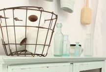 Bathroom Decor Ideas / Things to brighten a dull bathroom. Shabby chic, vintage and natural