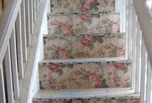 Staircase Ideas / Decorative ideas for transforming my old staircase. Shabby chic, vintage, natural