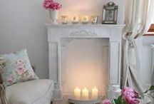 Fireplaces / Decorative ideas for unused fireplace areas - shabby chic, vintage, natural.