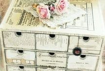 Storage / home, office, craft room, art studio storage ideas. Shabby chic, vintage, natural.