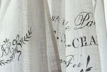 Window Dressing / curtains, blinds, tie backs, swags and other shabby chic, vintage and natural window dressing ideas