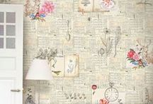 Wallpaper / wallpaper ideas - shabby chic, vintage and natural