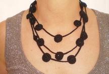 jewellery / from vintage yarns, crochet neckwear / by Minnie House