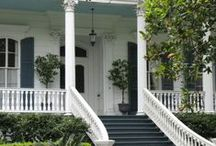 Southern Exteriors / The best of southern exteriors: porch swings, luscious landscaping, bold columns, and welcoming ambiance!