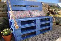 Creative pallet ideas / #pallet #creative #wood #furniture