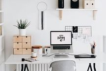 Decoration • Workplace • Inspiration / Setting your own working place and organizing you daily activities in a the way it will keep you inspired all the time