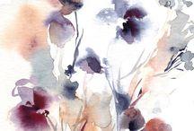 Watercolor • Floral • Plants / Watercolor flowers and plants, cactus, floral patterns, acuarela, cliparts, aquarelle, акварельные цветы, растения, кактус, цветочные узоры и клипарты