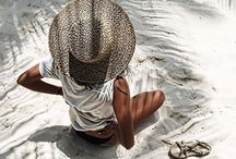 Traveling • Beach • Relax / Summer vibes, white sand and beach. Vacation inspirations, design and decoration