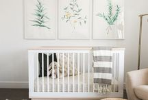 Decoration • Nursery • White & Pastel / Nursery decoration, light and pastel colors, design for both boys and girls