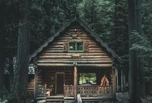 cozy cabins / My dream home in the mountains...