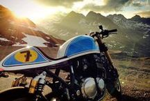 Cafe Racer/Chopper / cafe racer, chopper, motorcycle, Rocker / by Piotr Staroń