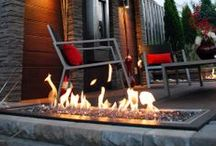 Fire Features / Including a fire feature brings light and warmth to your deck that invites you to stay out and enjoy the outdoors even as the evenings get chillier late in the year.  They're also a great way to grab attention and highlight awesome design features on your deck!