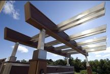 Pergolas & Aerial Features / Pergolas & aerial features draw the eye upwards and provide shade or define areas of your deck, without closing you in.