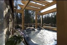 Hot Tubs / The warmth and luxury of a private hot tub just can't be beat, and the options for incorporating one into your deck are endless.  Check out some of our inviting hot tub installations!