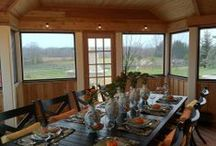 Three-Season Rooms / These features combine the rain & bug protection of an interior room, with the fresh air and beauty of the great outdoors.  Luxury!