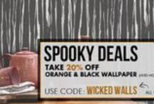 Halloween: Black & Orange Wallpapers | Walls Republic / Happy Halloween! We've got a treat for you! Shop our orange and black wallpaper, along with additional wallpaper that we've added just for you!  *These wallpapers are not exclusive to Halloween and are available all year round.*
