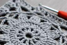 Crochet - Granny square / Granny square, flower, hexagon, round, motifs....