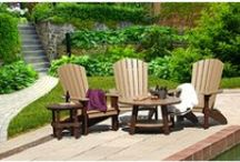 CHF | outdoor furniture / Handcrafted poly & pressure treated pine outdoor furniture. http://www.carriagehousefurnishings.com/