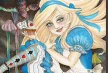 alice in wonderland / BLUE ALICE,WITH  BIT OF MORBIDNESS