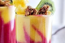 Fruity Smoothies / Smoothies with different tastes and how to make them!