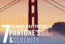 Pantone's 2016 Colour of the Year: Rose Quartz and Serenity / Introducing wallpapers in Pantone's 2016 dual blend colour of the year: Rose Quartz and Serenity