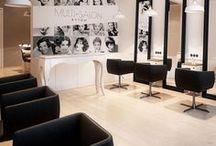 Hairdresser interior / Beauty parlor / Salony fryzjerskie i kosmetyczne / Hairdresser interior design. Beauty parlor design. Salony fryzjerskie i kosmetyczne - projekty wnętrz. Biuro projektowe Archi group / Adam Kuropatwa. / Design office ArchiGroup, Bytom, Poland