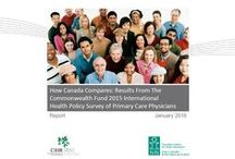 Commonwealth Fund's 2015 International Health Policy Survey of Primary Care Doctors / Canadian primary care physicians have identified ongoing issues with their patients' access to care and the coordination of that care, as well as the gains made through new models of primary care delivery. These and more insights come from How Canada Compares: Results from the Commonwealth Fund's 2015 International Health Policy Survey of Primary Care Doctors, released by CIHI in partnership with the Canadian Institutes for Health Research.