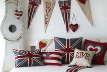 LOVE | British Room Decor & Interior / Du kannst dir ziemlich sicher sein, dass ich alles toll finde, wo ein Union Jack drauf abgebildet ist! Hier pinne ich meine liebsten Räume und Deko Elemente mit dem Britischen Etwas!
