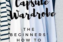 FASHION | Capsule Wardrobe - Inspirationen und Tipps / Capsule Wardrobe: Hierbei sucht man sich eine bestimmte Anzahl von Kleidungsstücken aus (z. B. 30) und bastelt daraus seine Outfit Kombinationen für eine Saison!