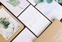 HOCHZEIT | Einladungen, Tischkarten, Stationery & Papeterie / Papeterie auf Hochzeiten; dazu zählen Einladungen, Tischkarten und sonstige Dinge aus Papier.