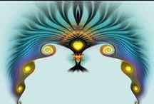 Black 'n Blue / Fractals Mandala`s ...